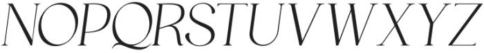 HV Muse Italic otf (400) Font UPPERCASE