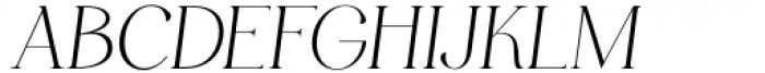 HV Muse Italic Font UPPERCASE
