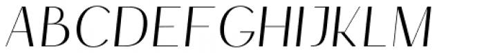 HV Simplicité Alternative Italic Font UPPERCASE
