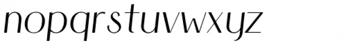 HV Simplicité Alternative Italic Font LOWERCASE