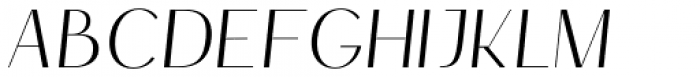 HV Simplicité Italic Font UPPERCASE