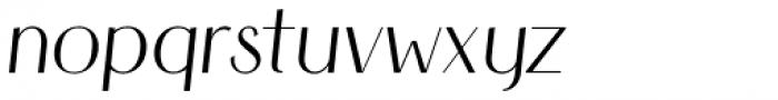 HV Simplicité Italic Font LOWERCASE