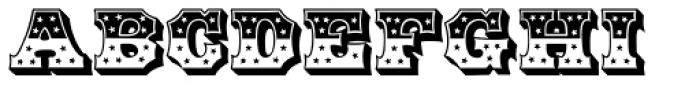 HWT American Chromatic Font UPPERCASE