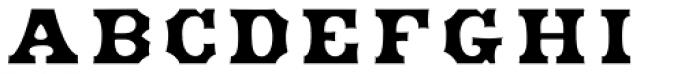 HWT American Inset Font LOWERCASE
