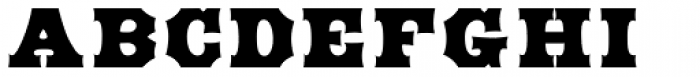 HWT American Solid Font LOWERCASE