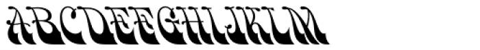 HWT Bulletin Script Two Font UPPERCASE