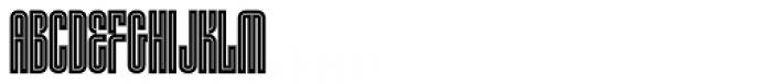 HWT Lustig Elements Inline Font UPPERCASE
