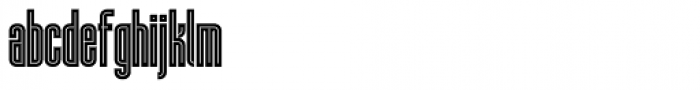 HWT Lustig Elements Inline Font LOWERCASE