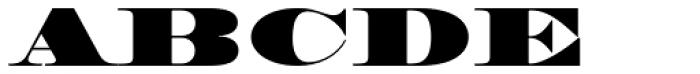 HWT Roman Extended Fatface Font UPPERCASE