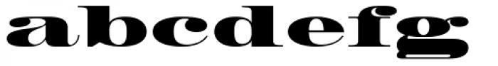 HWT Roman Extended Fatface Font LOWERCASE