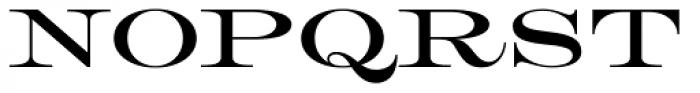HWT Roman Extended Lightface Font UPPERCASE