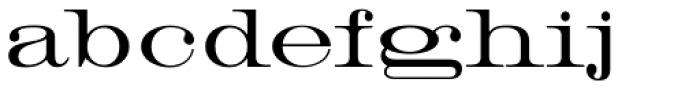 HWT Roman Extended Lightface Font LOWERCASE