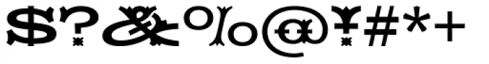 HWT Tuscan Extended Font OTHER CHARS