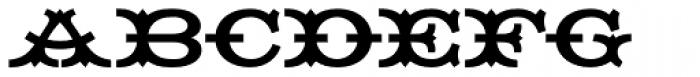 HWT Tuscan Extended Font UPPERCASE