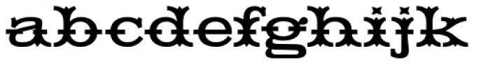 HWT Tuscan Extended Font LOWERCASE