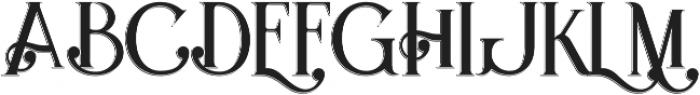 Hydrant Shadow otf (400) Font UPPERCASE