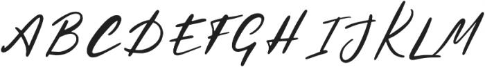 Hysteria Regular otf (400) Font UPPERCASE