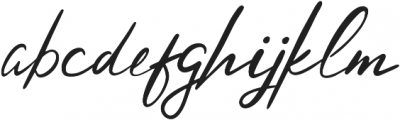 Hysteria Regular otf (400) Font LOWERCASE