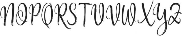 Hysteria otf (400) Font UPPERCASE