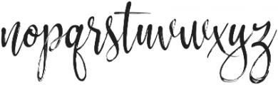 Hysteria otf (400) Font LOWERCASE