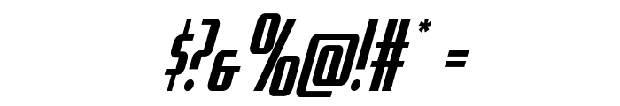 Hydro Squad Condensed Font OTHER CHARS