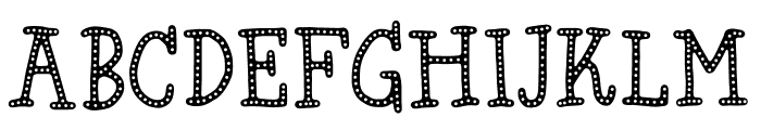 Hyggebukser DEMO Regular Font UPPERCASE