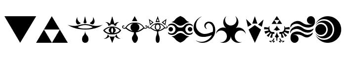 Hylian Symbols Font LOWERCASE