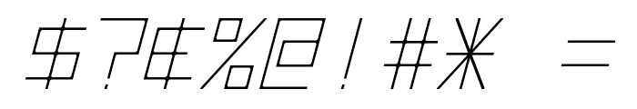Hyperspace Italic Font OTHER CHARS