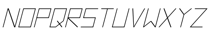 Hyperspace Italic Font UPPERCASE