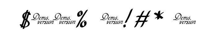 Hypertiroid - demo version Italic Font OTHER CHARS