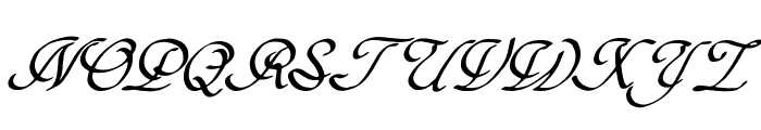 Hypertiroid - demo version Italic Font UPPERCASE