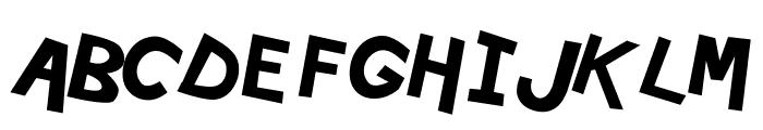Hypewriter Bold-Italic Font UPPERCASE