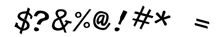 Hypewriter Italic Font OTHER CHARS
