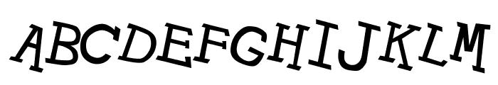 Hypewriter Italic Font UPPERCASE
