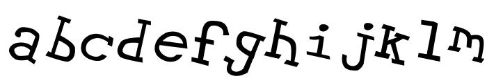 Hypewriter Italic Font LOWERCASE