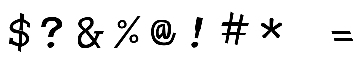 Hypewriter Font OTHER CHARS