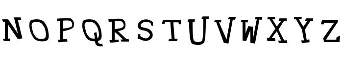 Hypewriter Font UPPERCASE
