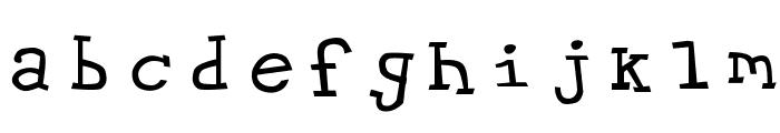 Hypewriter Font LOWERCASE