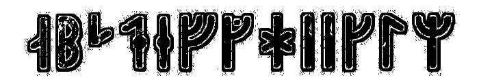 Hyrrokkin Runic Font UPPERCASE