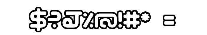 hybrid Outline Font OTHER CHARS