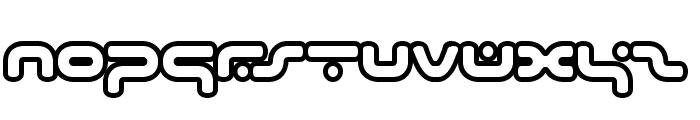 hybrid Outline Font UPPERCASE