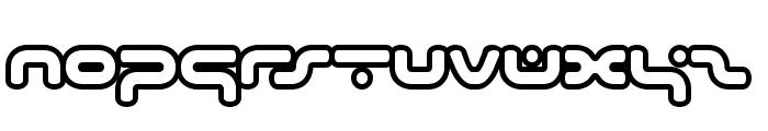 hybrid Outline Font LOWERCASE
