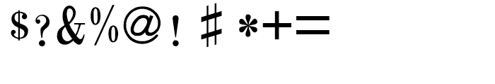 HY Chang Mei Hei Traditional Chinese B5 Font OTHER CHARS