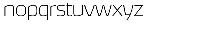 Hybrea Extralight Font LOWERCASE