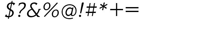 Hybrid Light Italic Font OTHER CHARS