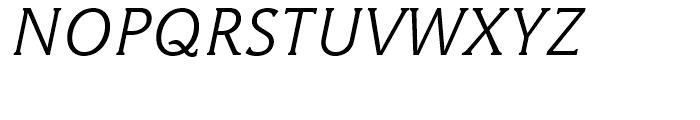 Hybrid Light Italic Font UPPERCASE