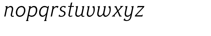 Hybrid Light Italic Font LOWERCASE