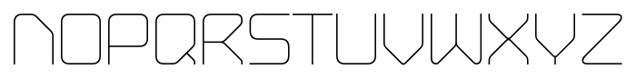 Hydrogen Light Regular Font UPPERCASE
