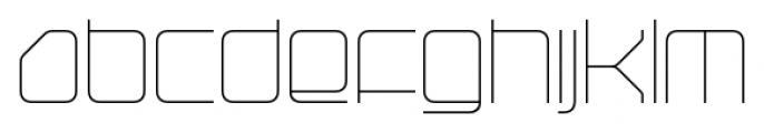 Hydrogen Light Regular Font LOWERCASE