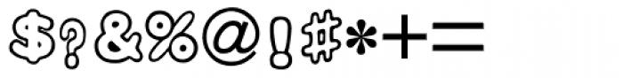HYBai Qi J Font OTHER CHARS